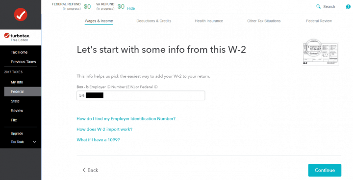 Importing Electronic W-2 to TurboTax