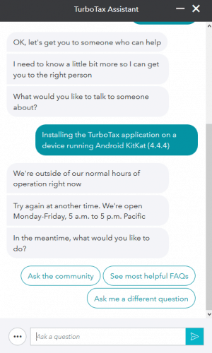 The TurboTax Chatbot Assistant