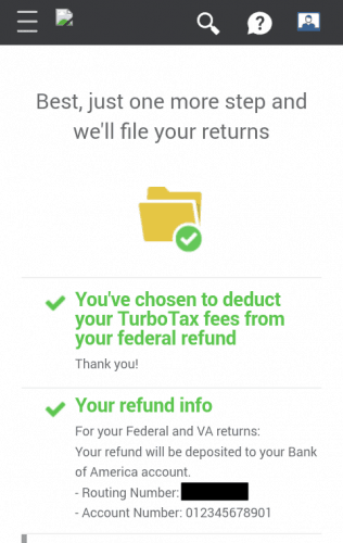 Filing From TurboTax's Mobile Version