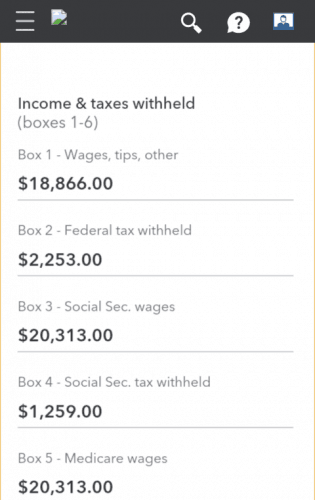 W-2 Management in TurboTax's Mobile Edition